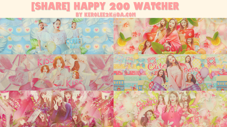 [STOP SHARE] Happy 200 watcher by KeroLee2k