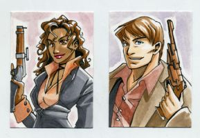 Sketch Card Zoe and Mal by glance-reviver