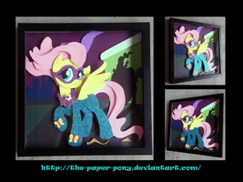 Shadowbox: Saddle Rager/Fluttershy by The-Paper-Pony