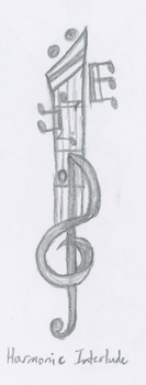 KH - Harmonic Interlude Keyblade by snowcloud8