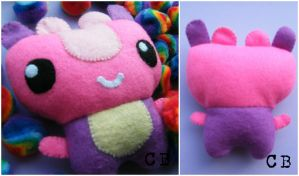 Little Pink Monster Plushie by TheChgz