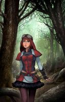 Steampunk Red Riding Hood by joewight