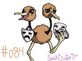 #084 Doduo by SaintsSister47