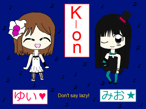 K-on yui and mio by CuteRibbon1