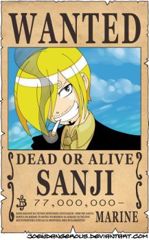 WANTED Dead or Alive - Sanji by JoeOiii