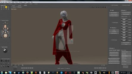 Wardrobe Malfunction in Poser 10's Cloth Room by High-Deprogrammer