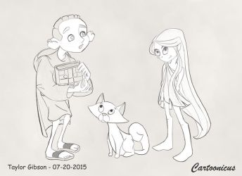 Kells Characters by Cartoonicus