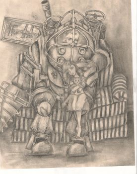 Big Daddy and his Little Sister by Immortal-Faerie