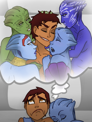 Unhealthy Asari Obsession by thelivingmachine02