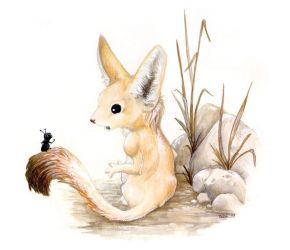 The Fennec and the Ant by ursulav