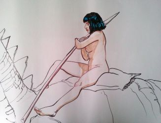 Figure Drawing 20 minutes by EmanuelMacias