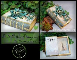 Blue Green Dragon on Small New York Book by Tpryce