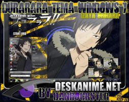 Izaya Orihara Theme Windows 7 by Danrockster