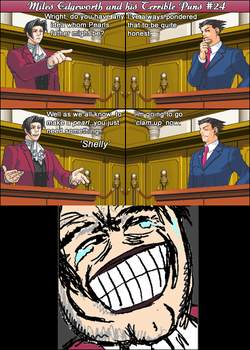 Miles Edgeworth and His Terrible Puns #24 by DarkMatter89
