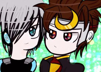 MapleStory: Xenon and Hayato by Rikabreeze
