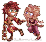 AT::. Chibi Asad + Fiore by Priss-BloodEmpress