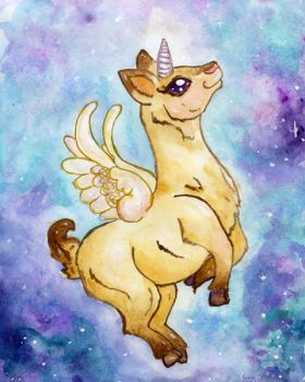 Llama of the Stars by Starrydance