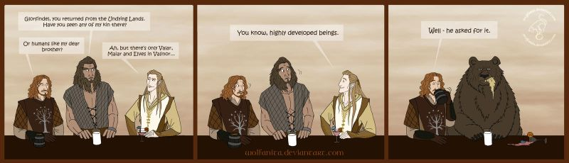LotRHobbitSilmarillion: Suggest a Character Gag by wolfanita