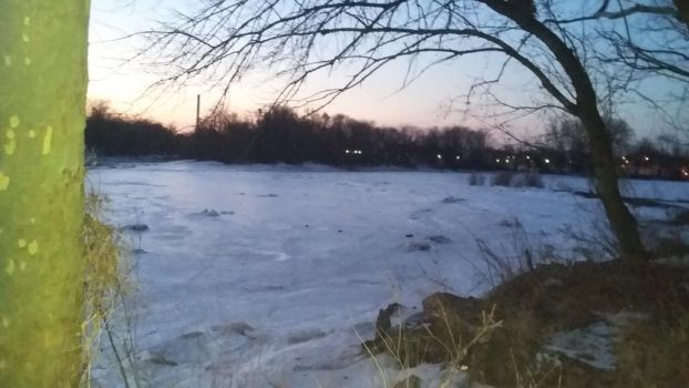 Sunset Over the Frozen River 4 by SharkGirl15