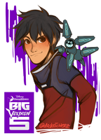 BH6xVLD: Paladin Hero-Purple Lion: Hiro Hamada by DAsKeTcHeRZ