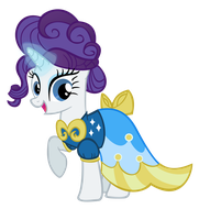 Rarity being Fancy by linksfanponies