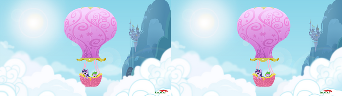 Hot Air Balon of MLP in 3D by Leo-17-0-2