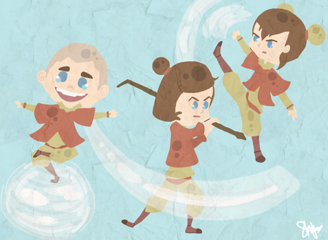 The Airbending Children by Lenmccarristarr