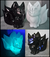 LED Tealight fox 3D printed model by CyanFox3