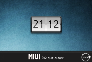 uccw - miui flip clock 2x2 by zipalign