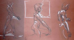 Life Drawing November 2013 by Gizmoatwork