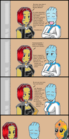 Mass Effect 2: Coversations with Liara Part II by bookwormcat