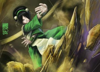 Toph Bei Fong by scarypet