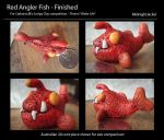 Red clay angler fish by MidnightJackel