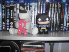 Batman and Boofle by Foxy-Knight