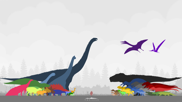 The Isle - Dinosaur Size Chart (Non-Official) by Malfacio