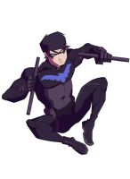 Nightwing - young justice by Eman-Thabet