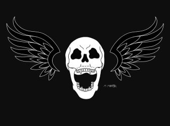 Screaming Skull Logo (Coloured In) by Maderlore