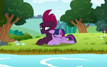 Twily and Tempy At the lake by EJLightning007arts