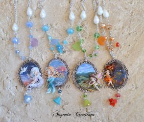 collection of cameos four elements by AngeniaC