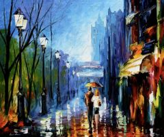 Paris by Leonid Afremov by Leonidafremov