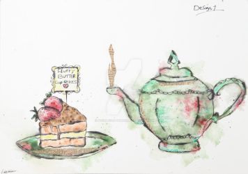 Tea and Cake Design 1 by poisonous-tears