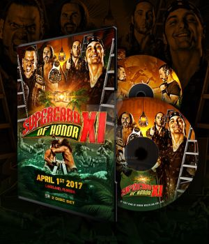 ROH Supercard Of Honor XI official DVD artwork by THE-MFSTER-DESIGNS