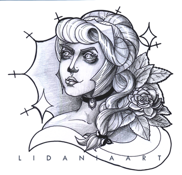 Rose Neotraditional Tattoo by LidaniaArt