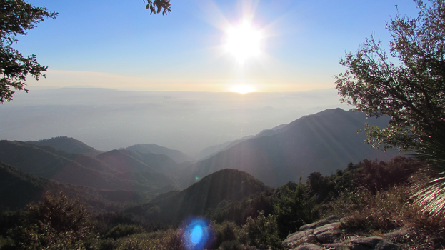 LA Basin from the San Gabriel Mtns by iconocrash