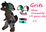 Grits ~ Reference Sheet ~ 2018 by Vampwolfie