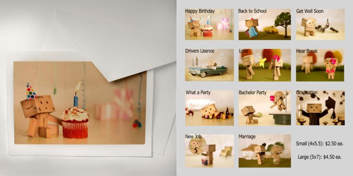 Danbo Greeting Cards-All by BryPhotography