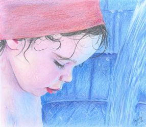 First color drawing portrait by Mirally