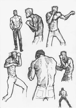 Pen and ink Studies by JeremyWDunn
