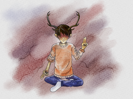 Boy with Antlers by tragicallyhipster