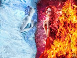 Fire and Water by Renata-s-art